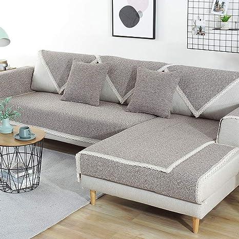 YYRZGW Funda de sofá de algodón y Lino, Protector de Muebles ...