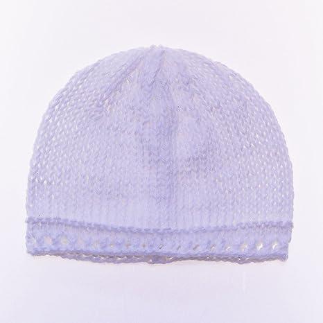Bonnet de Naissance Bébé Fille 100% Coton Fait Main   - 3 - 6 mois ... 0d486fb2b4f