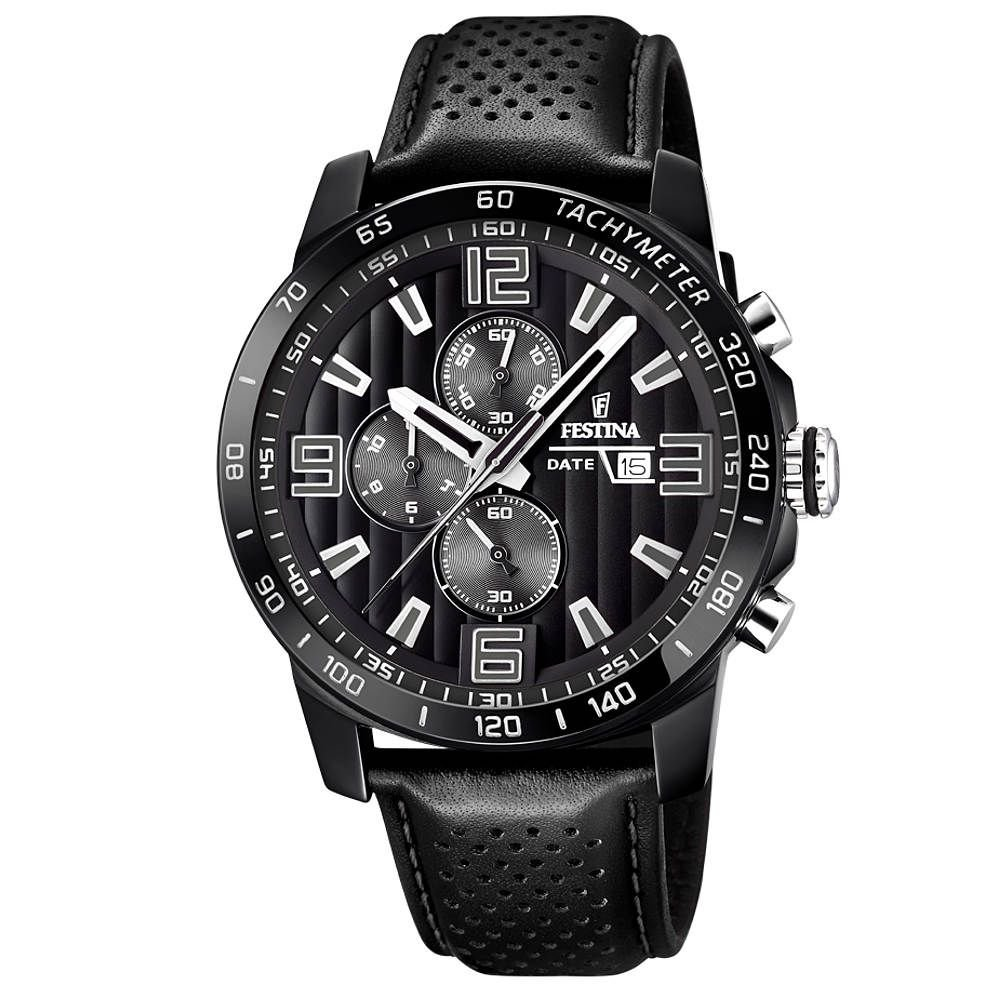 Men's Watch - Festina - F20339/6 - Chronograph - Date - Black by Festina