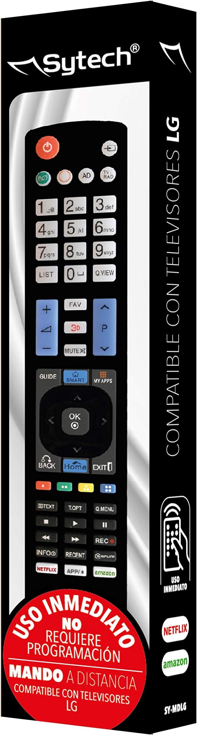 SYTECH, SY-MDLG- Mando a Distancia Compatible con televisores de la Marca LG: Amazon.es: Electrónica