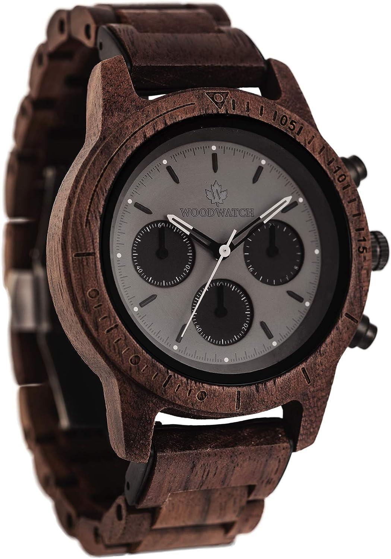Axinite Black   WoodWatch Oficial   Hecha a Mano   Movimiento de Cuarzo japonés   Reloj Duradero y a Prueba de Salpicaduras con una Elegante Caja de Madera