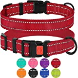 CollarDirect Reflective Dog Collar, Safety Nylon Collars for Dogs with Buckle, Outdoor Adjustable Puppy Collar Small…