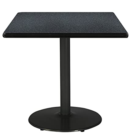 Amazoncom KFI Seating Square Pedestal Table With Graphite - White square pedestal table