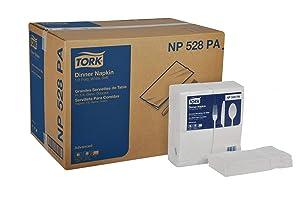 Tork Advanced NP528PA Soft Dinner Napkin, 2-Ply, 1/8 Fold, 15