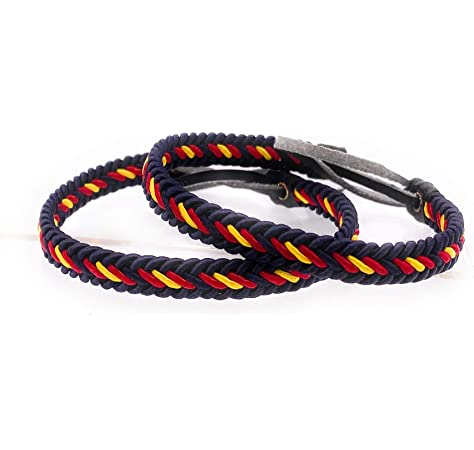 Where Is The Limit? Pack 5 Pulseras Negra con Bandera de España ...