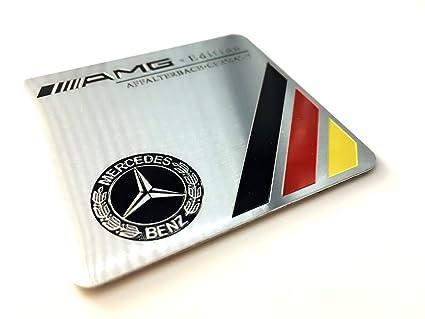 Aluminum AMG Affalterbach Emblem Badge 3D Car Sticker Decals for Mercedes-Benz