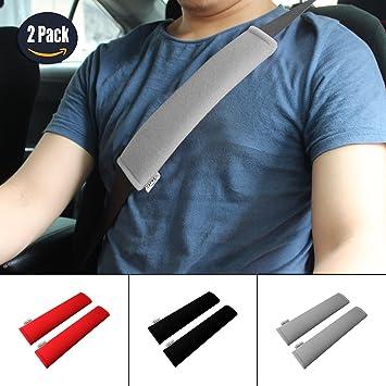 GAMPRO Car Seat Belt Pad Pad, 2 Pack Soft Car Safety Belt Belt Strap Pad