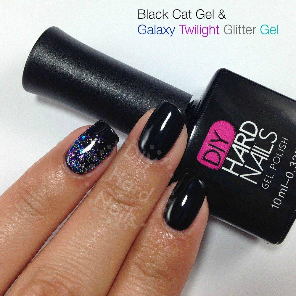 Diy Hard Nails Galaxy Twilight Glitter Gel Nail Polish Topper