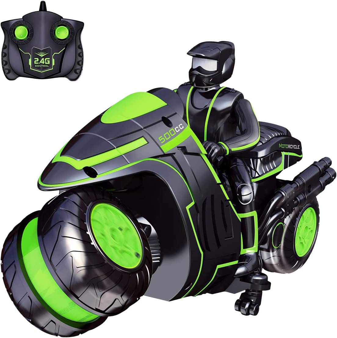 Selieve Remote Control Car for Kids, 2.4Ghz High Speed and 360° Spinning Remote Control Motorcycle with One Rechargeable Batteries, Best Gift/Toys for 6-12 Year Old Boys or Girls