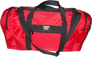 product image for Duffle Bag Wet and Dry with 1 End Compartment Mesh,Front Pocket,Made in USA (Red)