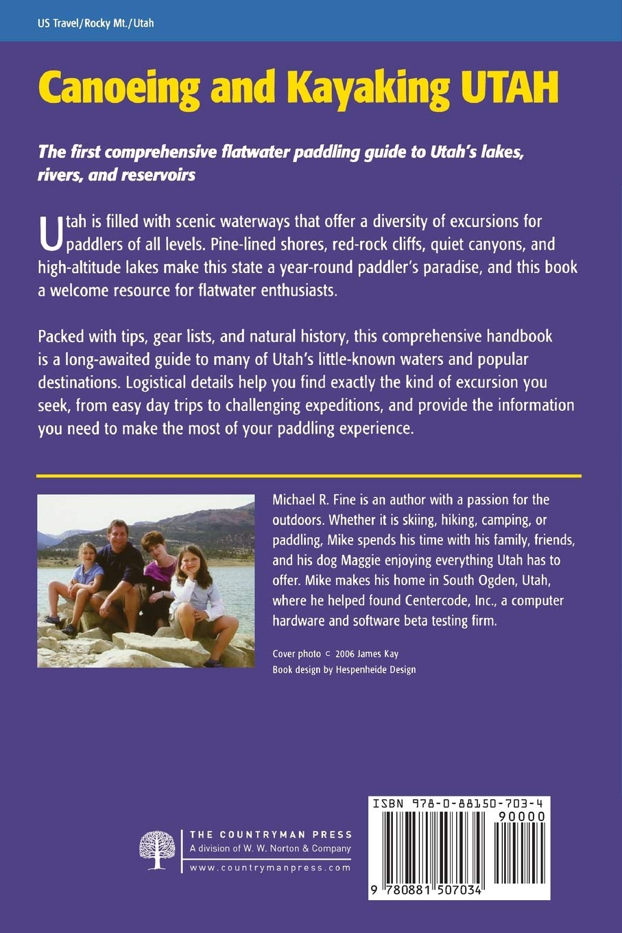 Canoeing and Kayaking Utah A Complete Guide To Paddling Utahs Lake Reservoirs And Rivers