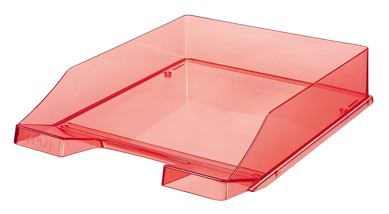HAN Briefablage KLASSIK, DIN A4/C4, stapelbar, stabil, transparent-rot 1026-X-29