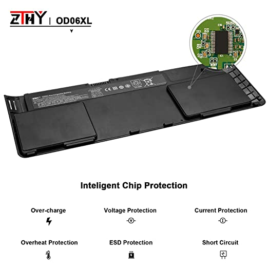 Amazon.com: ZTHY Compatible OD06XL Laptop Battery Replacement for Hp Elitebook Revolve 810 G1 G2 G3 Series Tablet 0D06XL OD06 698750-171 698750-1C1 ...