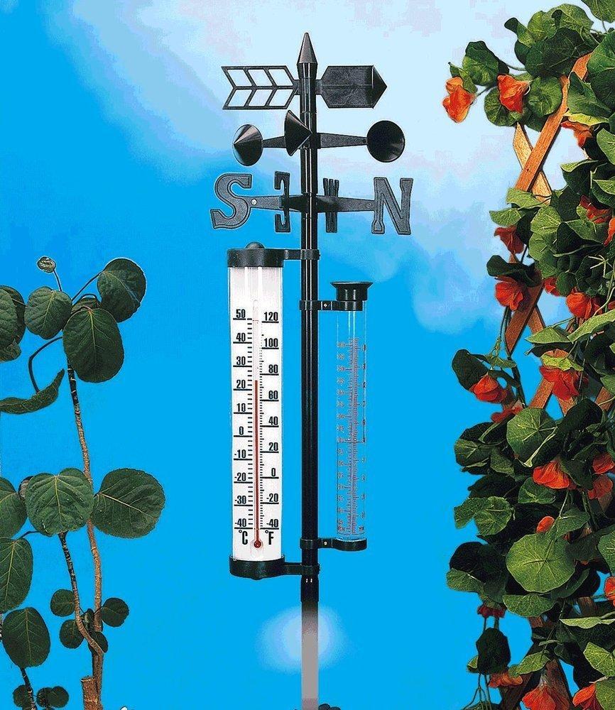 Wetterstation groß mit Regenmesser, 1 Stück 1 Stück Baldur-Garten