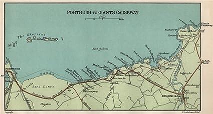Map Of Ireland Giants Causeway.North Antrim Coast Portrush Giant S Causeway Bushmills Skerries