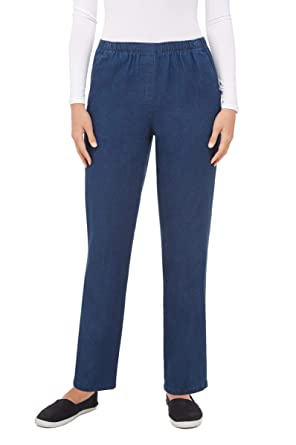 Petite Pull-On Pant With Faux Fly