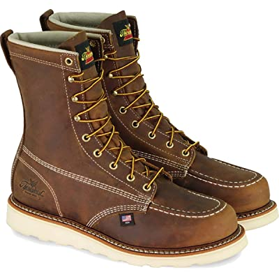 """Thorogood Men's American Heritage 8"""" Moc Toe, MAXwear Wedge Non-Safety Toe Boot 