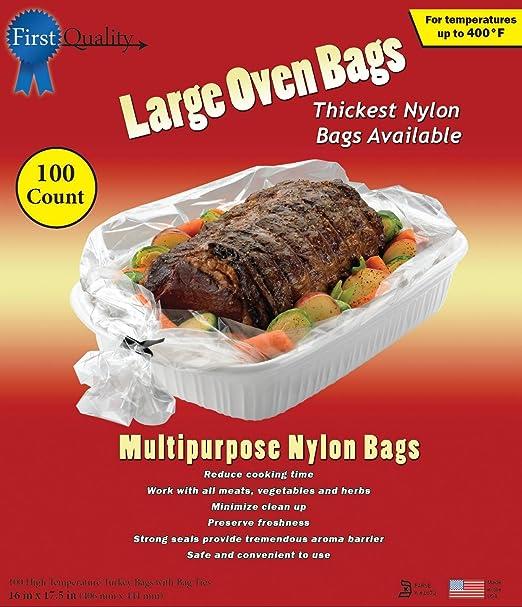 Bolsas de horno grandes de 40,6 cm x 44,5 cm, 100 bolsas y lazos ...