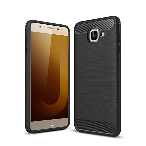 reputable site a7b73 c9c34 For Galaxy J7Max Case, Ultra-thin Brushed Carbon Fiber Slim Armor Soft TPU  Phone Back Full Cover Case For Samsung Galaxy J7 Max (Black)