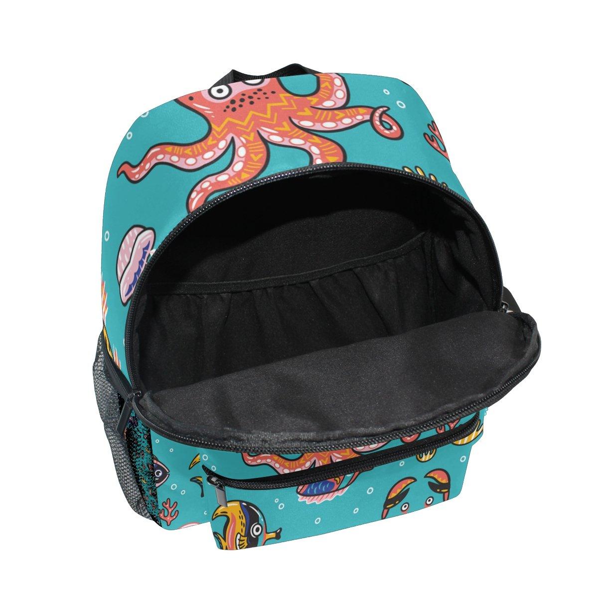 489f89da9222 MyDaily Kids Backpack Octopus Seal Narwhal Fish Cartoon Nursery Bags for  Preschool Children  Amazon.co.uk  Luggage