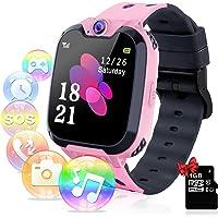 YENISEY Kids Smart Watch, Games Muziekspeler Telefoon Camera Kinderen HD Touchscreen Pols Smartwatch, Polshorloge SOS…