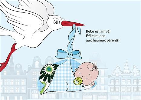 Carte De Bébé Garçon Carte De Félicitations Pour La
