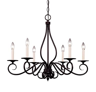 Savoy House KP-103-6-13 Chandelier with No Shades, English Bronze Finish