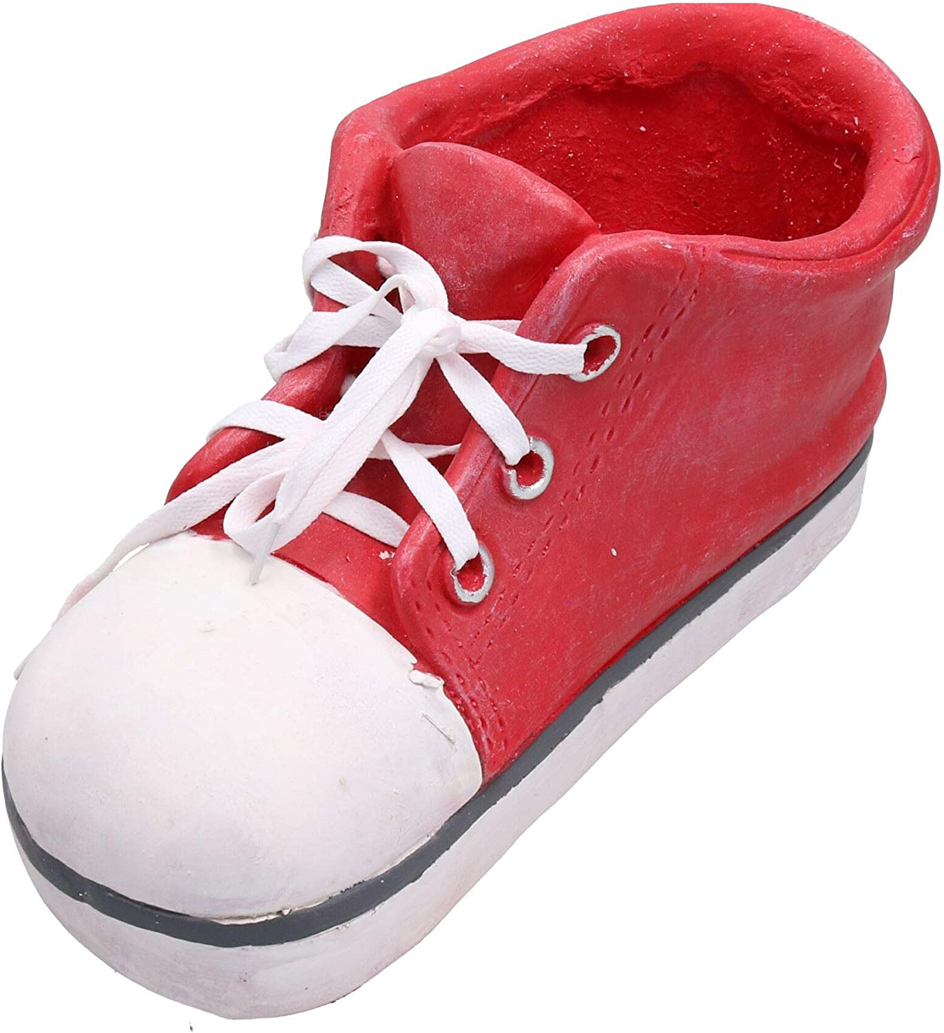 AB Tools Large Red Frost Proof Polyresin Shoe Planter Garden Ornament 17x19x35cm