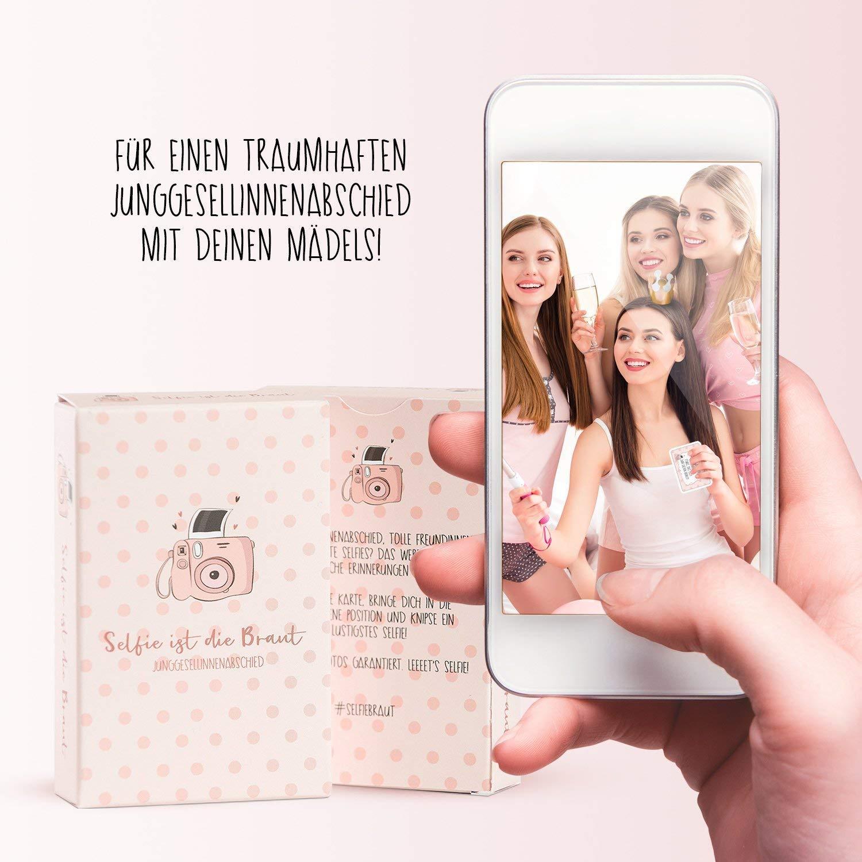 Nalara Selfie ist die Braut mit kreativen Fotoaufgaben für die Braut Kartenspiel