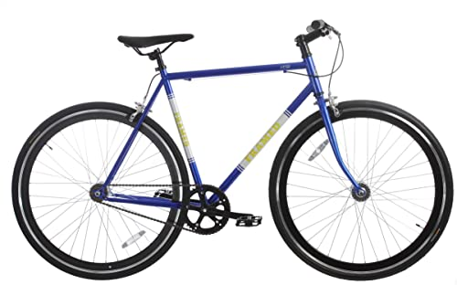 Framed Lifted Bike Fixie Style Single Speed Blue White Yellow 52cm