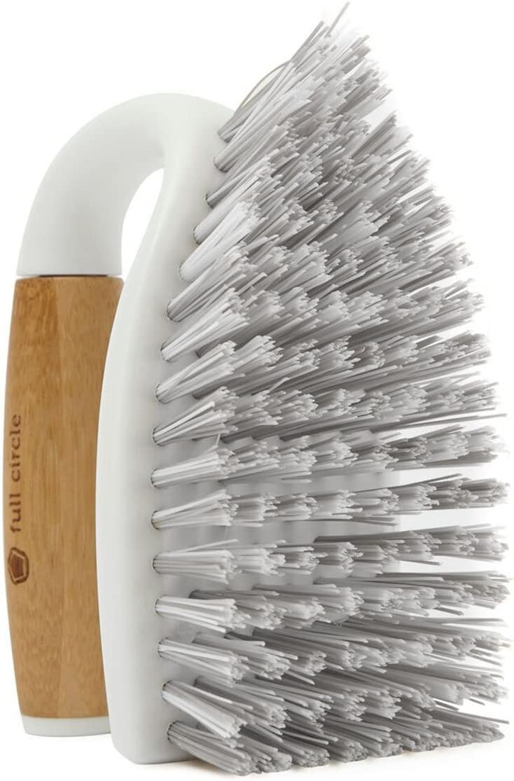 Full Circle Tough Stuff All-Purpose Scrub Brush-White