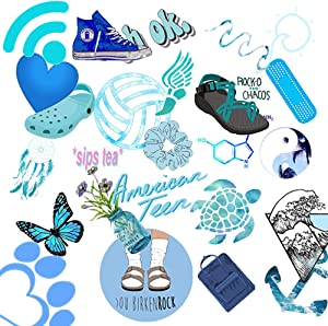 50-Pack Stickers for Water Bottles Cute,YESPURE Waterproof,Aesthetic,Trendy Stickers for Girls Teens, Perfect Stickers for Waterbottle,Laptop,Phone,Travel Case E
