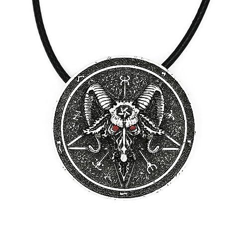 Amazon.com: Paw Paw Casa amuleto sabbatic de Baphomet Cabra ...