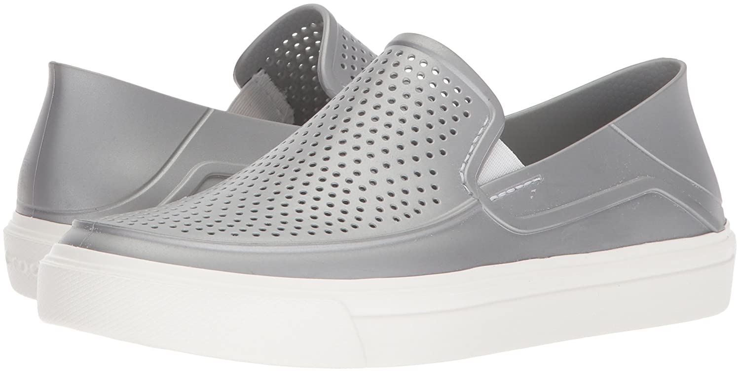 Amazon.com | Crocs Womens Citilane Roka Metallic Slip On Sneaker | Fashion Sneakers