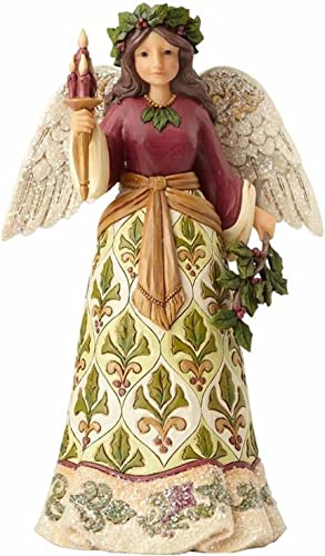 Enesco Jim Shore Heartwood Creek Collection Victorian Angel with Candle Stone Resin Figurine, 9.5 , Multicolor