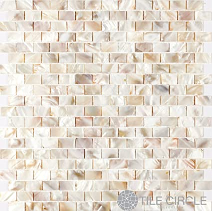 Amazoncom Genuine Mother Of Pearl Shell Tile Natural Varied X - 8 x 12 bathroom tiles