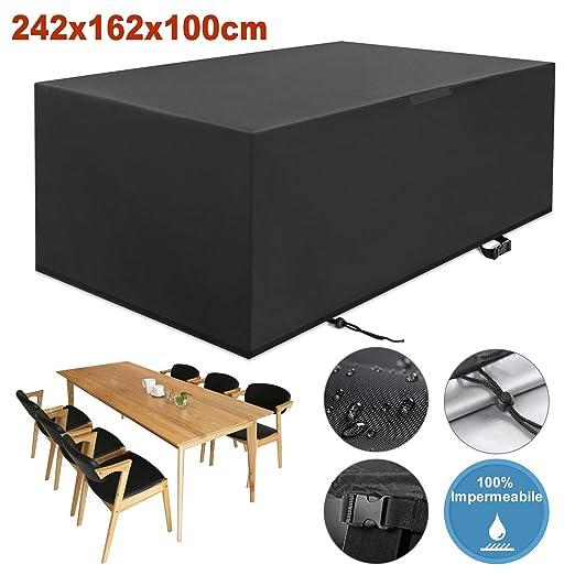 YISSVIC Cubierta de Muebles de Jardín Fundas de Muebles Impermeable Resistente al Polvo Anti-UV Protección Exterior Muebles de Jardín Cubiertas de ...