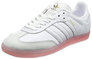 sale retailer e5479 83761 adidas Damen Samba Sneaker Weiß Footwear WhiteEasy Pink, 36 EU