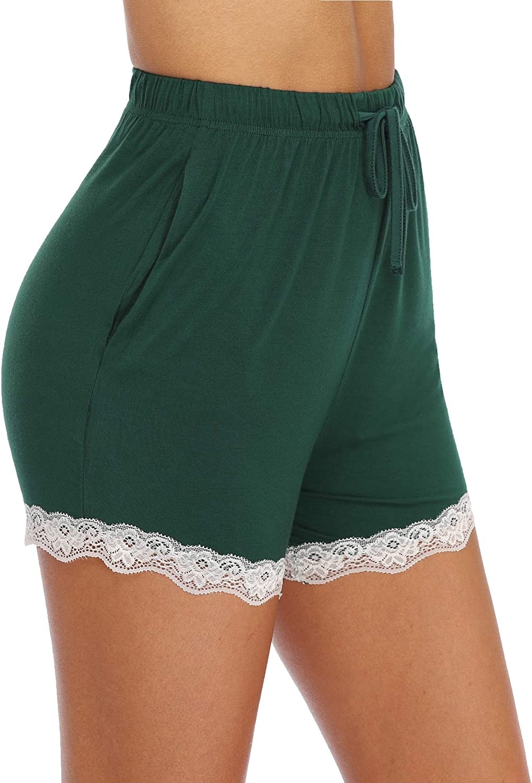 Irevial Women Tie Dye Pajamas Shorts Drawstring Exercise Shorts Sleeping Bottoms Sweatpants with Pockets