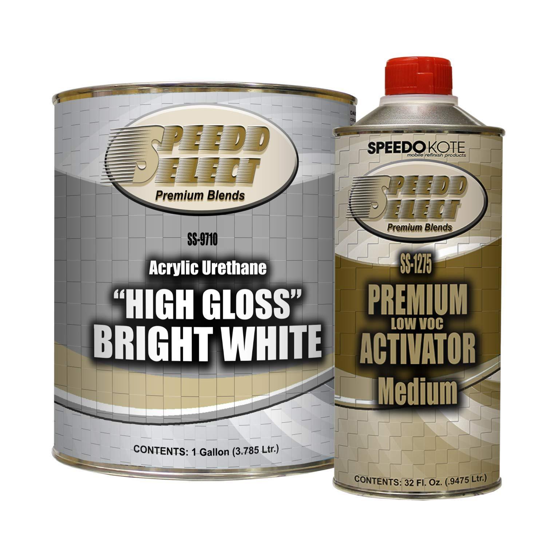 Speedokote High Gloss Bright White 2K Acrylic Urethane, 4:1 Gallon Kit, SMR-9710/1275 by Speedokote
