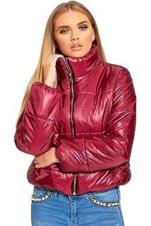 1c62cf54490 PILOT® Women's Cropped Puffer Jacket in Black: Amazon.co.uk: Clothing