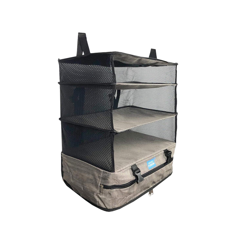 Grand Fusion Housewares Organizador de Maletas con Sistema de Equipaje port/átil Grande Azul estantes de Viaje Que se Pueden empaquetar y Organizador de Cubos de Embalaje