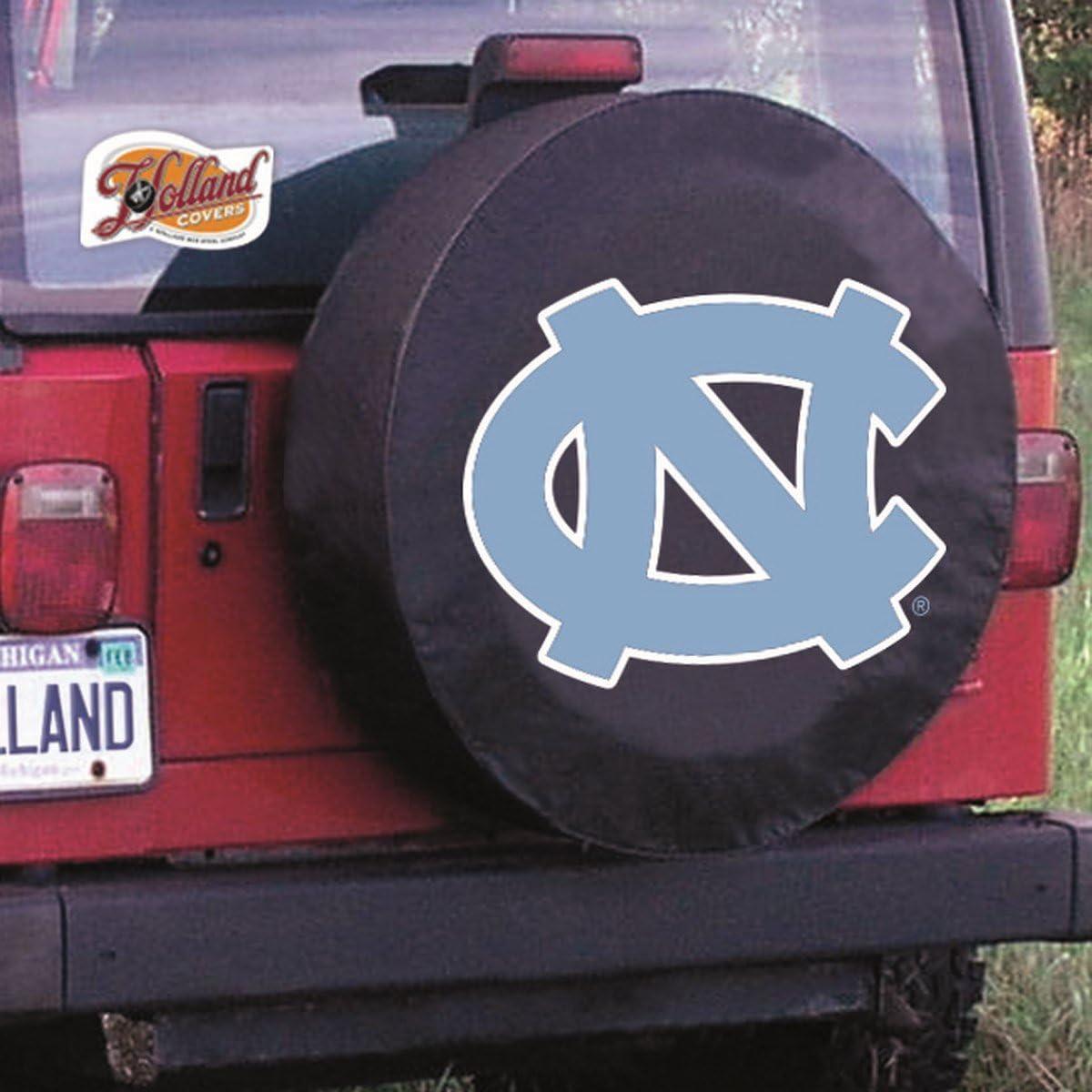 North Carolina Tar Heels HBS Black Vinyl Fitted Car Tire Cover Holland Bar Stool Co