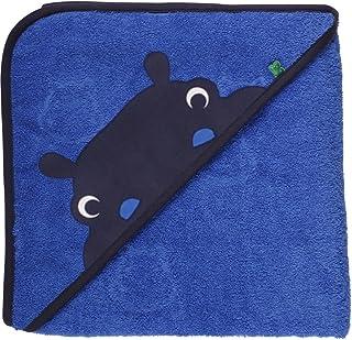 Fred's World by Green Cotton Jungen Hippo towel baby Halstuch, Blau (Royal Blue 019415001), One Size (Herstellergröße: 100x100)