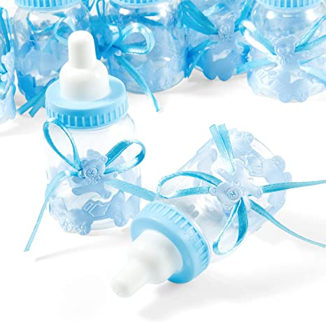 Remebe 24 Pcs Azul Biberones Botella Botellas Caja Caramelos ...