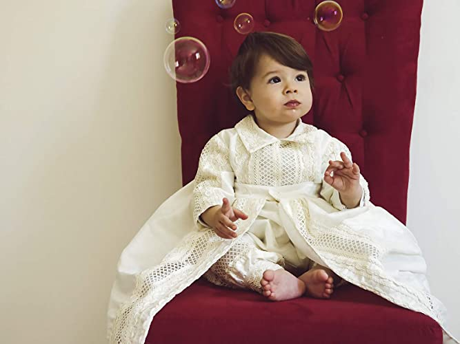 f3deac717d4b2a Amazon.com: Baby Boy Christening Gown, Spanish Style outfit (ropones para  bautizo). Baptism Outfit B005: Handmade
