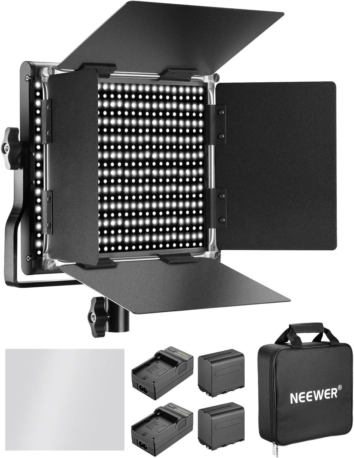 Neewer - Luz de vídeo LED Bicolor Regulable para cámara (LED, Negra, Incluye batería y Cargador): Amazon.es: Electrónica