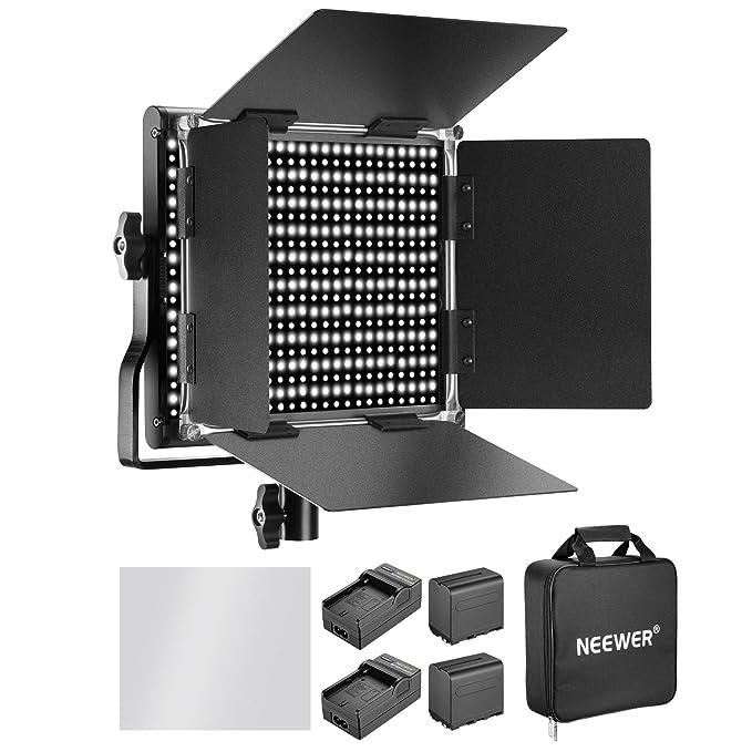 32 opinioni per Neewer 660 LED Video Light Bicolore 3200-5600K CRI 96+Regolabile con Batteria