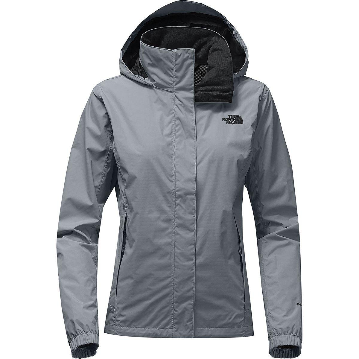 (ザノースフェイス) The North Face Resolve 2 Hooded Jacket レディース ジャケットMid Grey/Tnf Black [並行輸入品]   B07J23YVD6
