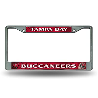 NFL Rico Industries Standard Chrome License Plate Frame, Tampa Bay Buccaneers: Sports & Outdoors